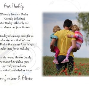 Personalised Our Daddy Design