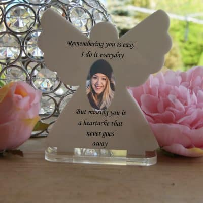 Personalised Remembering You Is Easy Tea Light Angel