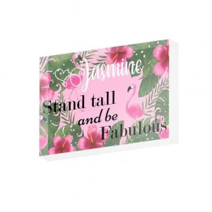 Personalised Stand Tall And Be Fabulous Crystal Block
