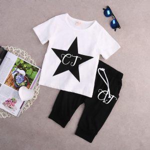 Personalised Boys Star T-Shirt & Harem Pants Set
