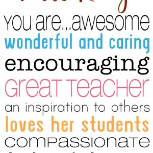 Personalised Teacher You Are Awesome Crystal Block