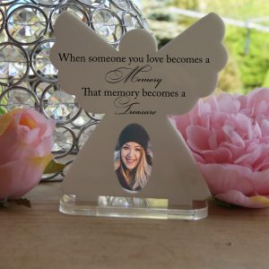 Personalised When Someone You Love Becomes A Memory Tea Light Angel