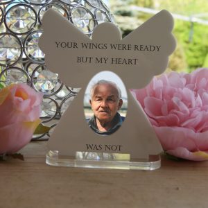 Personalised Your Wings Were Ready Tea Light Angel