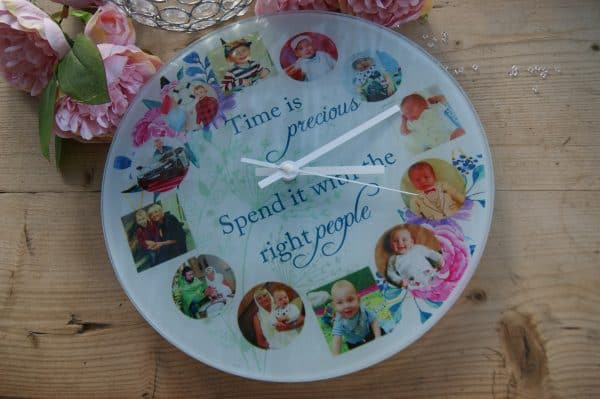 Personalised Time Is Precious Clock