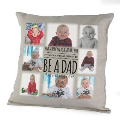 Personalised Any Man Can Be A Father Cushion