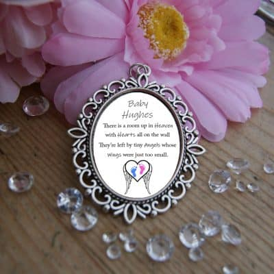 Personalised Tiny Angels Wedding Bouquet Charm