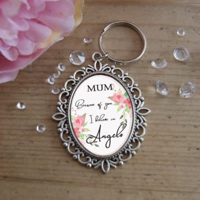 Personalised I Believe In Angels Wedding Bouquet Charm