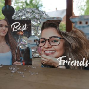 Personalised Best Friends Jigsaw Pieces