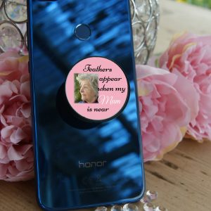 Personalised Feathers Appear Phone Case Pop Socket