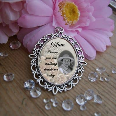 Personalised I Know You Are Walking Beside Me Today Wedding Bouquet Charm