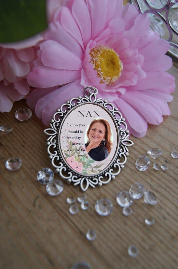 Personalised I Know You Would Be Here Today Wedding Bouquet Charm