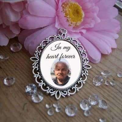 Personalised In My Heart Forever Wedding Bouquet Charm