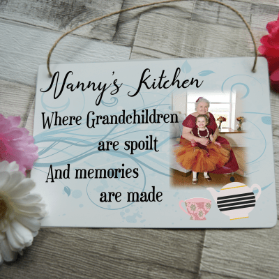 Personalised Nanny's Kitchen Hanging Sign