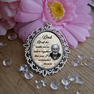 Personalised Of All The Walks Wedding Bouquet Charm