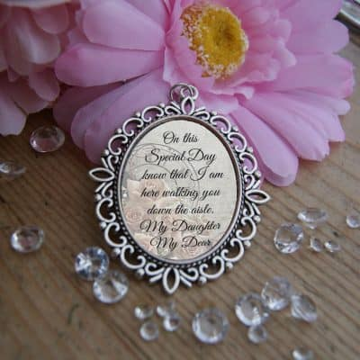 On This Special Day Wedding Bouquet Charm