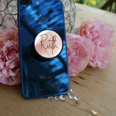 Personalised Rose Gold Name Phone Case Pop Socket