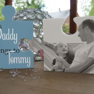 Personalised This Daddy Belongs To Jigsaw Pieces