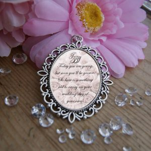 Personalised Today You Are Young Wedding Bouquet Charm