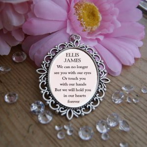 Personalised We Can No Longer See You Wedding Bouquet Charm