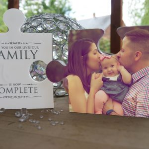 Personalised Our Family Is Now Complete Jigsaw Pieces