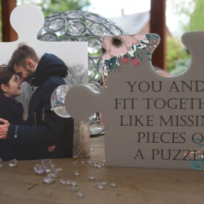 Personalised You And I Fit Together Jigsaw Pieces