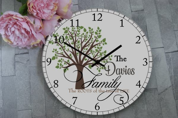 Personalised Family Tree Of Life Clock