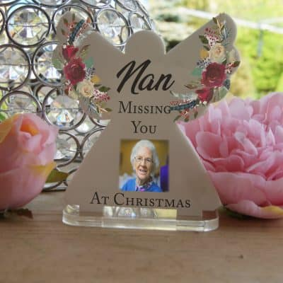 Personalised Missing You At Christmas Tea Light Angel