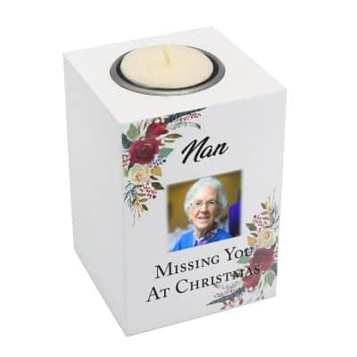 Personalised Missing You At Christmas Luxury Tealight Holder