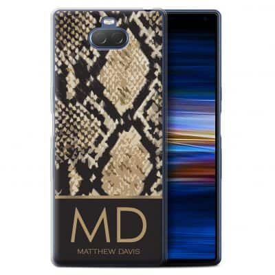 Personalised Custom Fashion Animal Print Pattern Snake Skin Effect Hard Back Phone Case