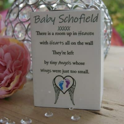 Personalised Tiny Angels Luxury Tealight Holder