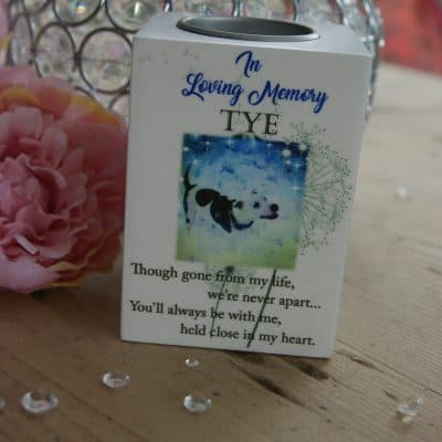 Personalised In Loving Memory Luxury Tealight Holder