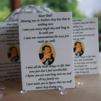 Personalised Missing You On Fathers Day Luxury Tealight Holder