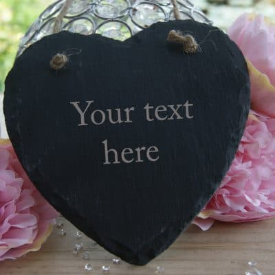 Design Your Own Slate Hanging Heart