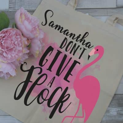 Personalised Don't Give A Flock Tote Bag