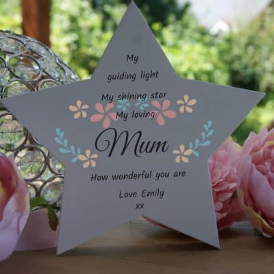 Personalised My Guiding Light Free Standing Star
