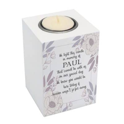 Personalised We Light This Candle Luxury Tealight Holder