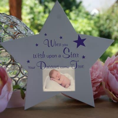 Personalised When You Wish Upon A Star Freestanding Wooden Star