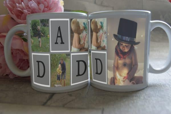 Personalised Dad Photo Collage Mug