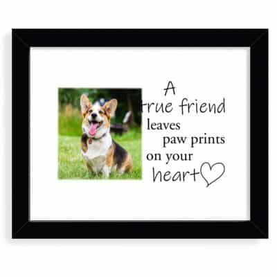 Personalised Paw Prints On Your Heart Design