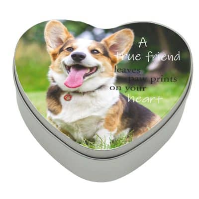 Personalised Heart Paw Prints On Your Heart Tin