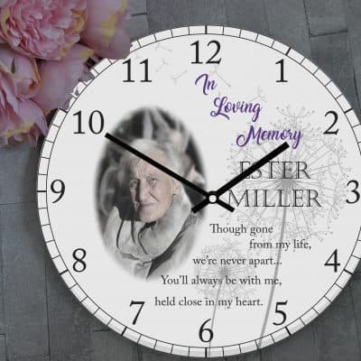 Personalised In Loving Memory Clock
