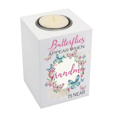 Personalised Butterflies Appear Luxury Tealight Holder