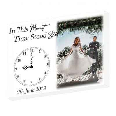 Personalised Wedding In This Moment Time Stood Still Crystal Block