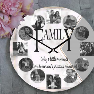 Personalised Family Todays Little Moments Clock