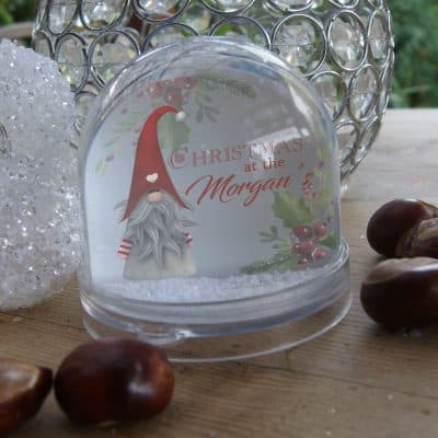 Personalised Christmas At The Snow Globe