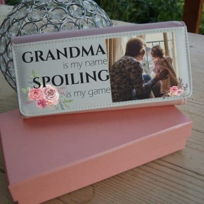 Personalised Grandma Is My Name And Spoiling Is My Game Pink PU Leather Purse