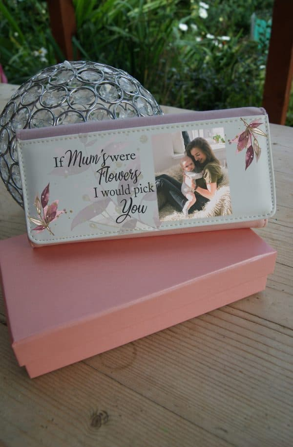 Personalised If Mums Were Flowers Pink PU Leather Purse