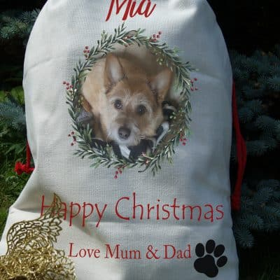 Personalised Pet Drawstring Christmas Sack