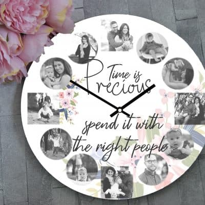 Personalised Time Is Precious Spend It With The Right People Design 2 Clock