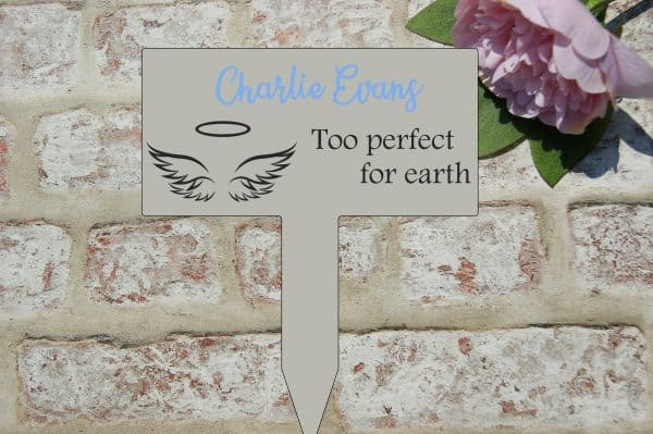 Personalised Too Perfect For Earth Grave/Memorial Marker